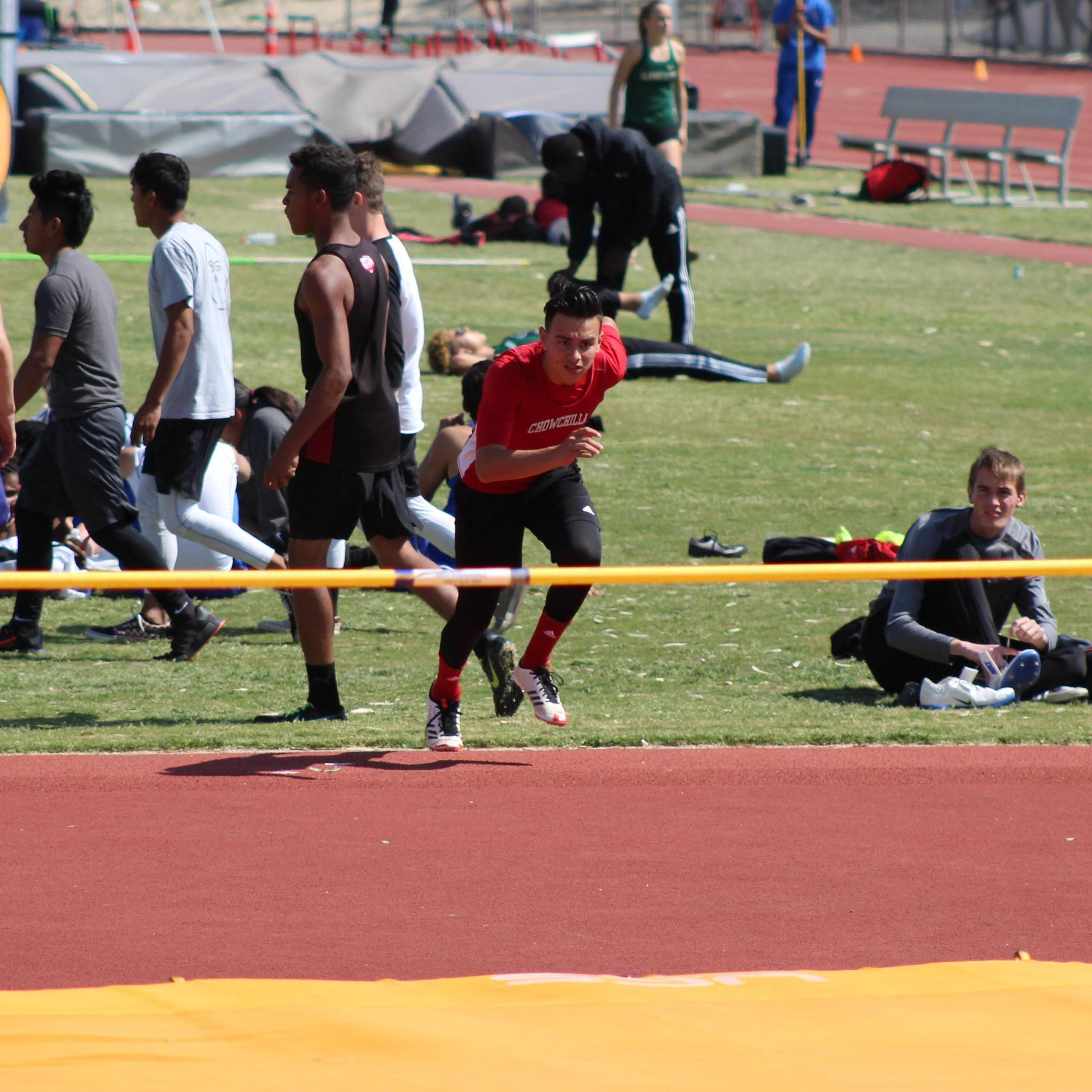 Track and field athletes competing at Hanford