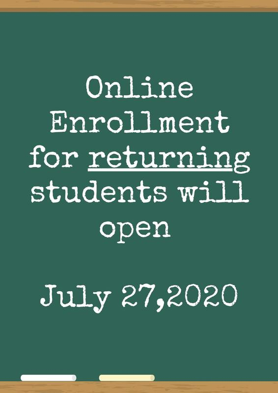 All returning students need to re-enroll! Featured Photo