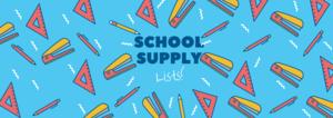 School Supply list!