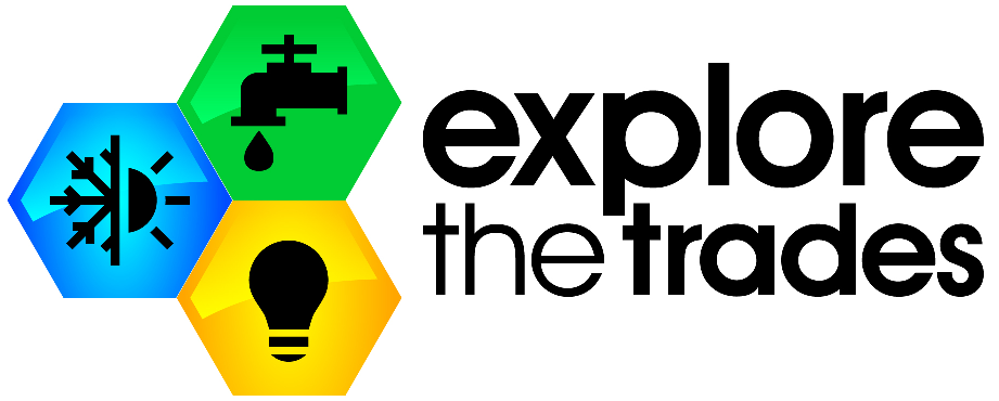 explore the trades logo
