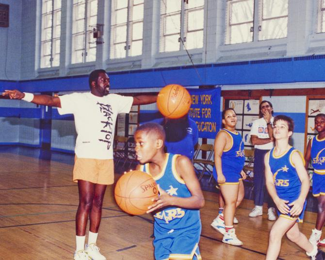Earl the Pearl Monroe with the Van Cleve basketball team