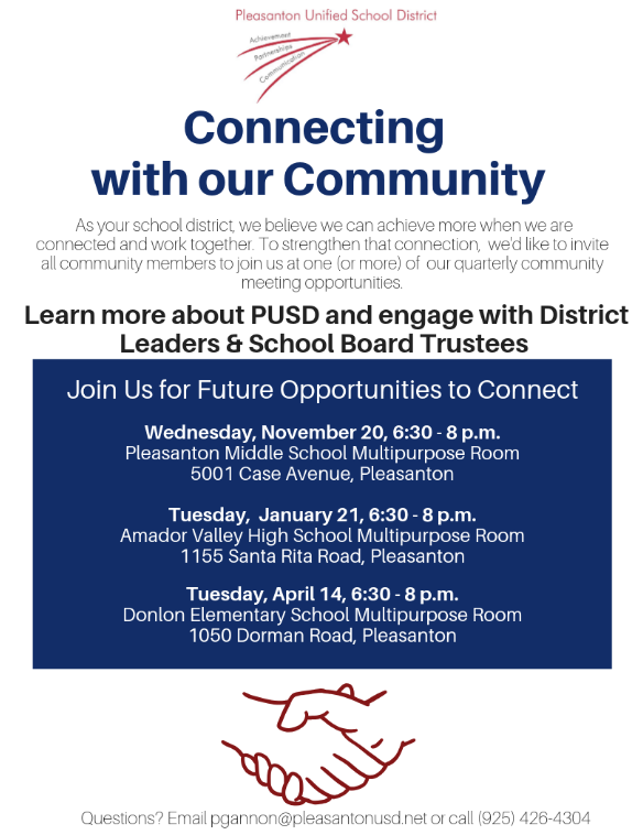 PUSD Community Meetings Featured Photo