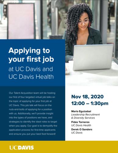 November 18, 2020 12-1:30PM UC Davis Hosting an Event