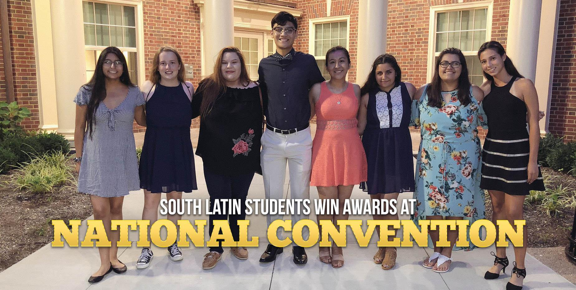 South Latin students win awards at national convention