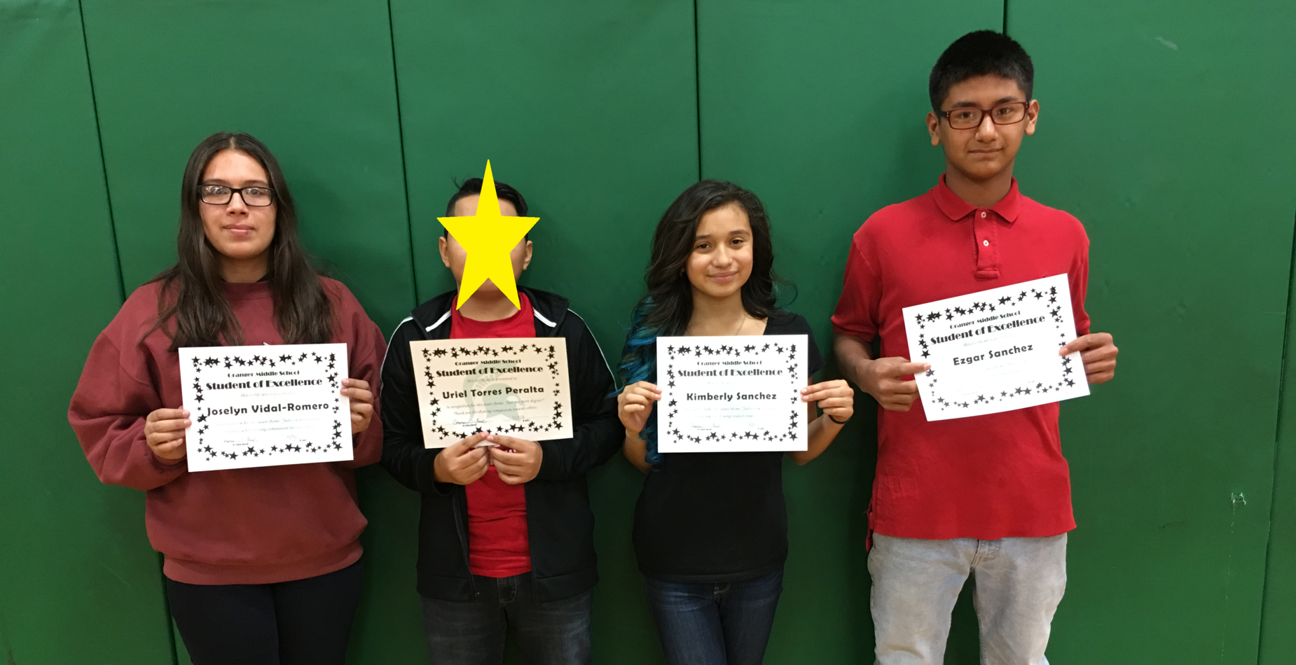 8th Grade Students of Excellence