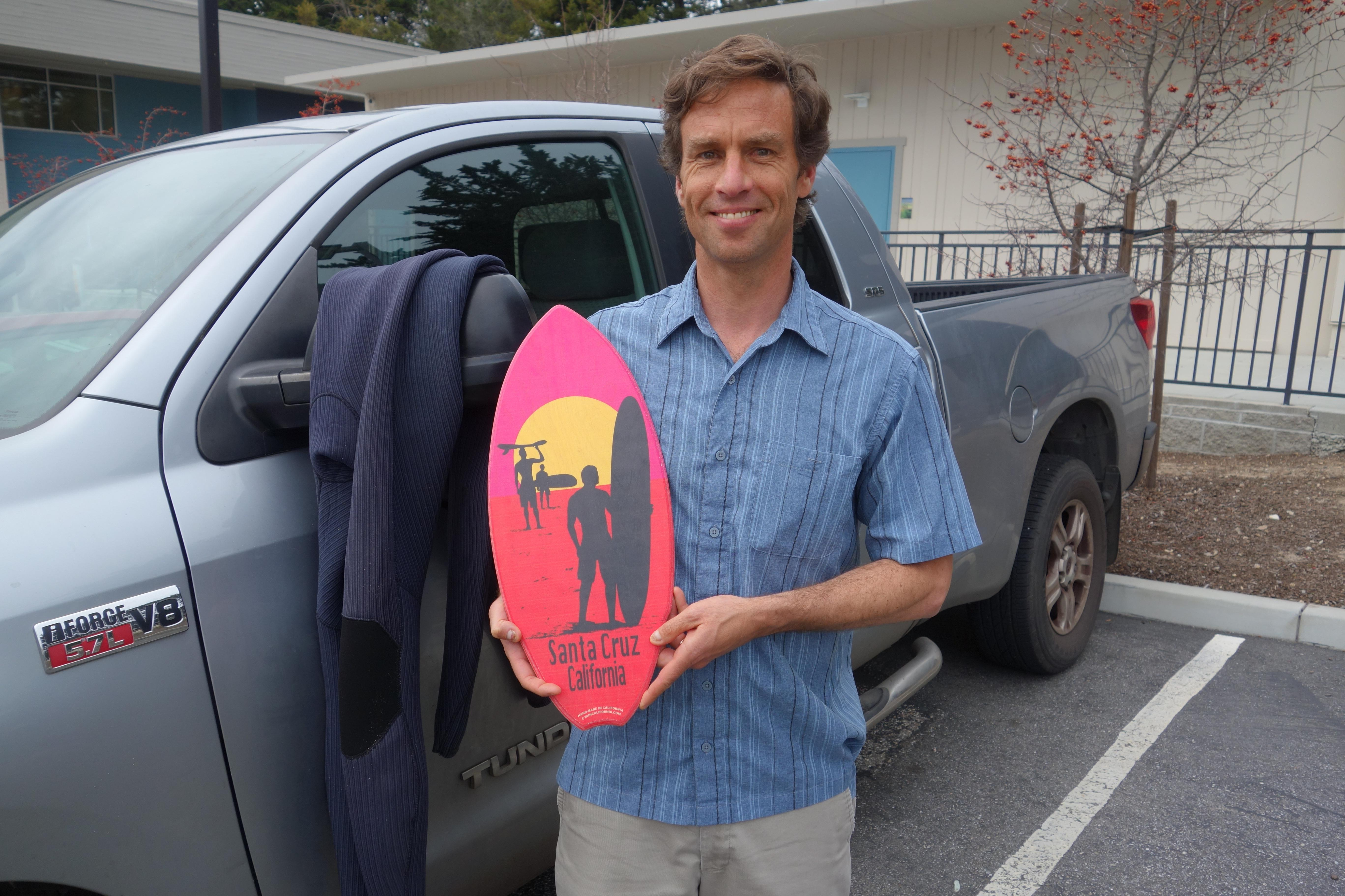PCS Principal Simon Fletcher Celebrated at BASH, Gifted Custom Surfboard Image
