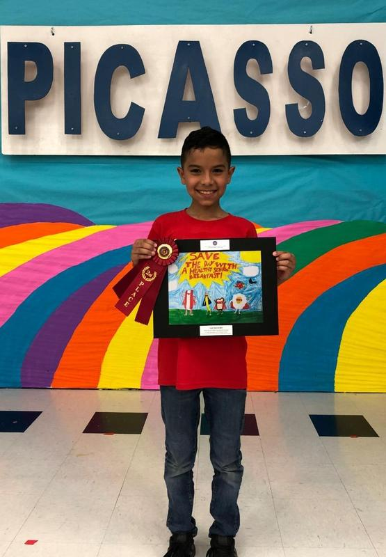"Picasso Elementary Student placed 2nd at the State TDA ""Art What you Eat"" competition! Featured Photo"