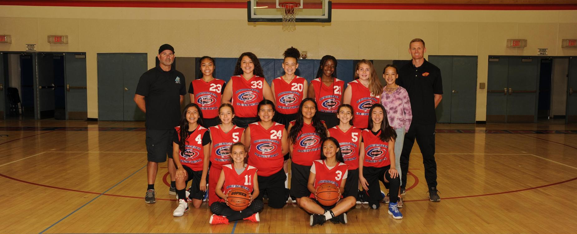 SGMS Girls Basketball Team 17-18