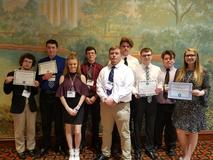 FBLA Students at the State Leadership Conference in Charleston, WV