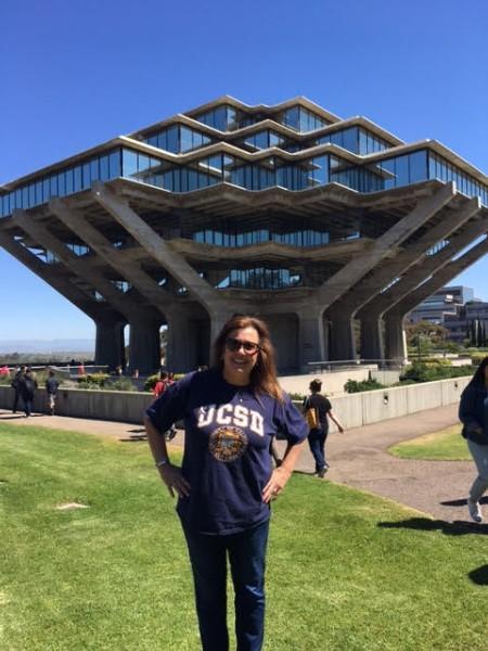 Mrs. Robilotta at UCSD field trip