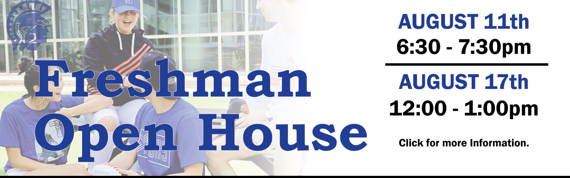 Freshman Open House Banner