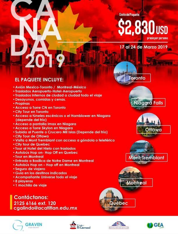 Recordatorio: Junta informativa para viaje internacional 2019 Thumbnail Image
