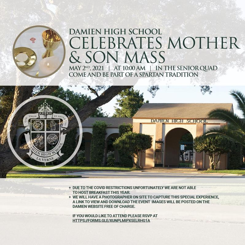 Please join us for Mother & Son Mass on Sunday, May 2, at 10:00 a.m. Featured Photo