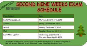 Denman Junior High School Exam Schedule
