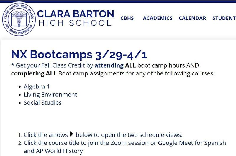 Spring Recess - NX Boot Camps Featured Photo