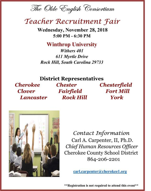 Chesterfield County to take part in teacher recruitment fair Featured Photo