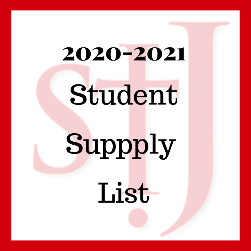 Student School Supply 2020-2021 Featured Photo