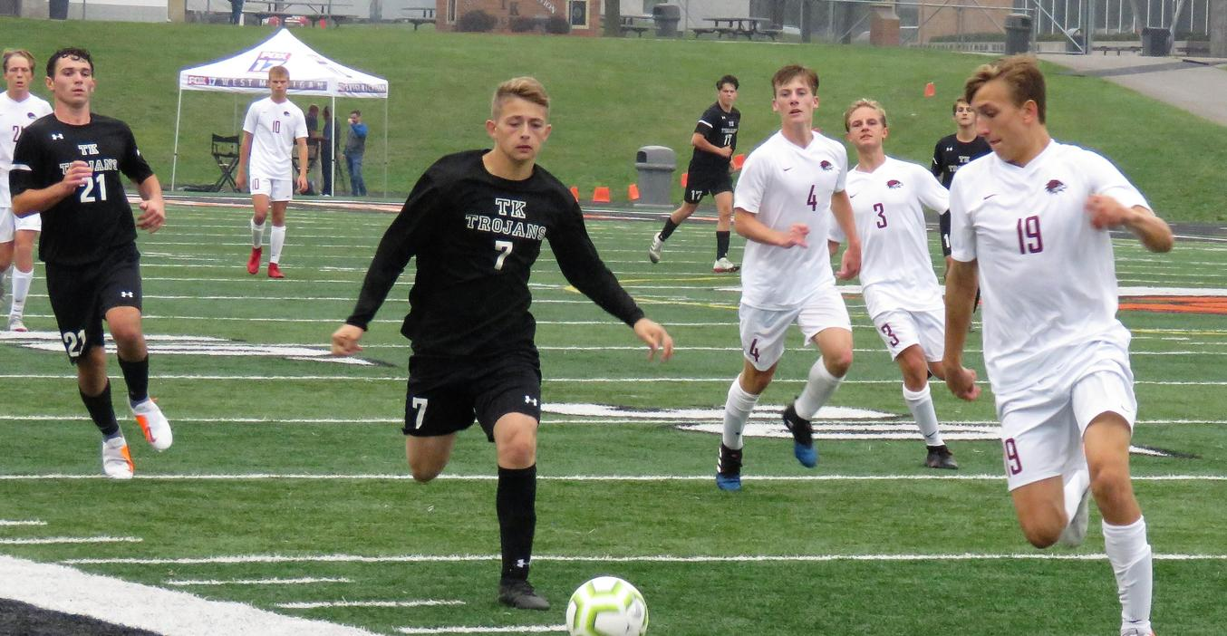 TKHS soccer team competes in a home match.