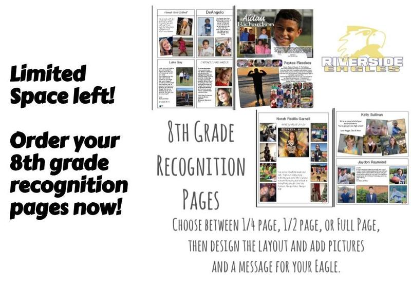 Purchase your 8th grade Recognition Ads now! Featured Photo