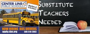 now hiring bus drivers $15/hour 586-510-2003 and substitute teachers needed