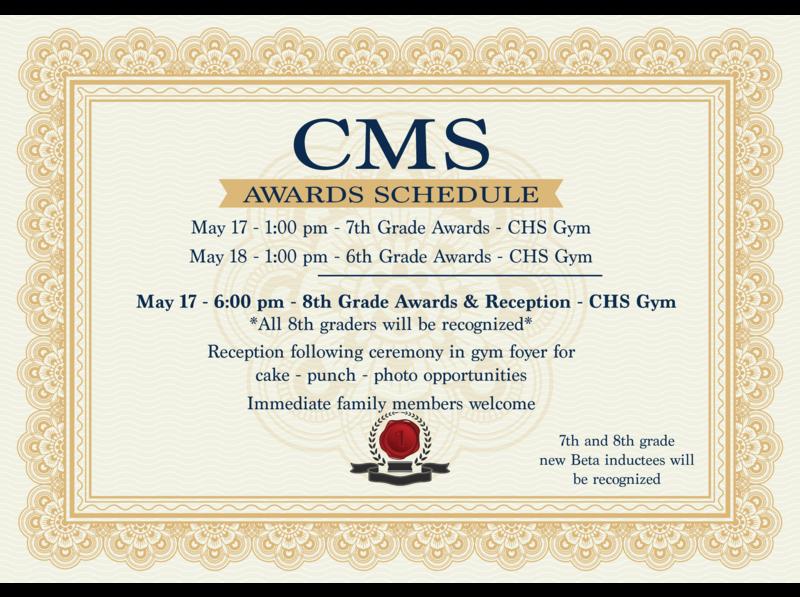 Awards Day Schedule