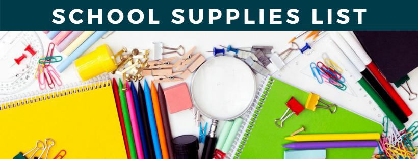 Supplies List Image