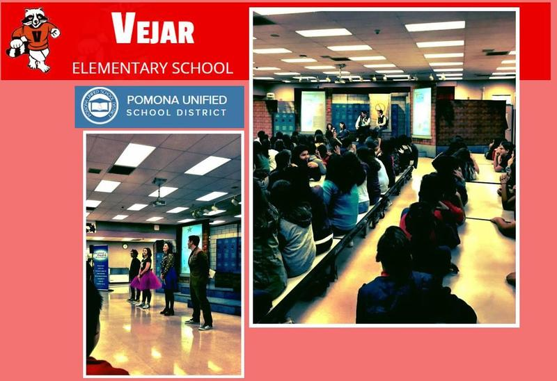 KAISER EDUCATIONAL THEATRE AT VEJAR ELEMENTARY - Message from Kaiser: Thanks to our partners at VEJAR ELEMENTARY in Pomona! Two fabulous