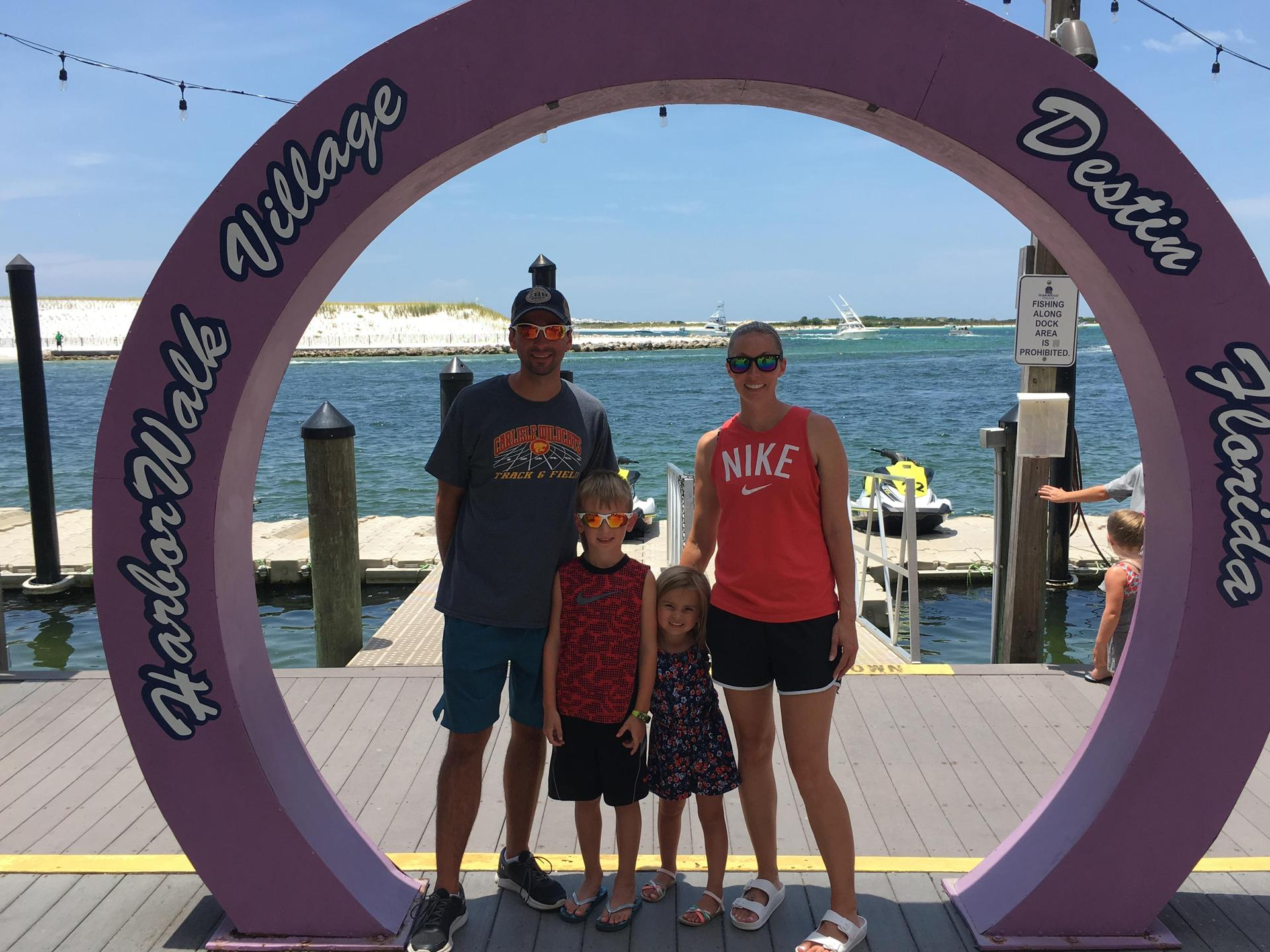My family and me in Destin, FL this summer!