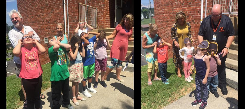 Elementary Student Viewing the Solar Eclipse