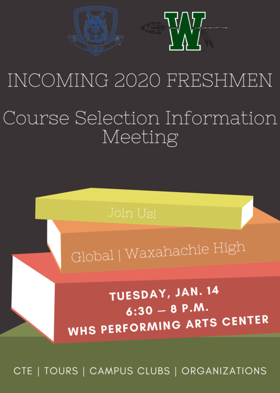 Incoming Freshmen Course Selection meeting on January 14