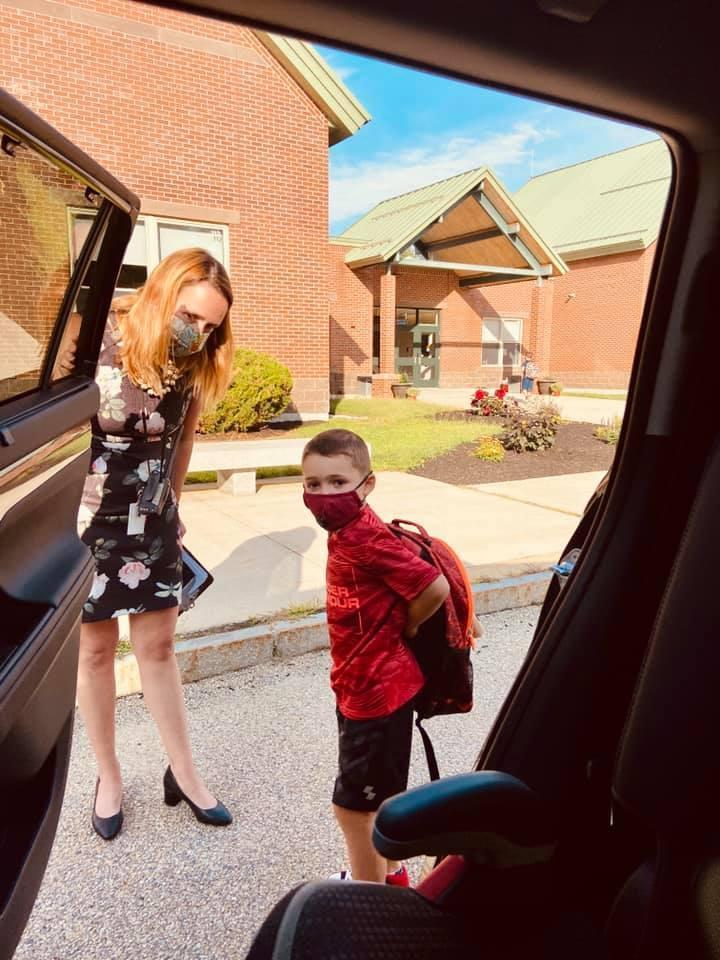 Teacher welcomes student