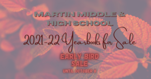 2021-2022 Yearbook Early Bird Sale