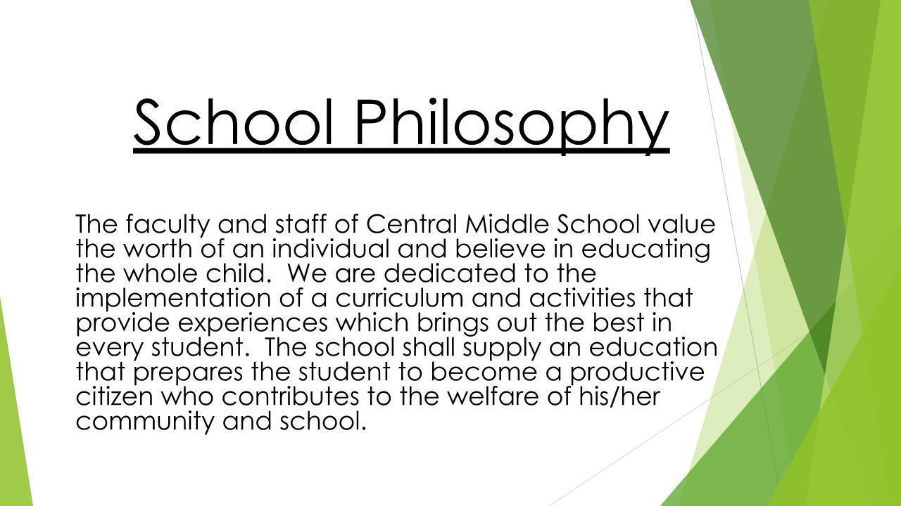 School Philosophy