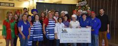 The WSISD Education Foundation and the White Settlement Chamber of Commerce sponsored our 3rd annual Pancakes with Santa event on Dec. 1. The organizations awarded a portion of the proceeds ($500) to the Brewer High School Culinary Arts program, which fed more than 500 people a pancake breakfast. The event also included photos with Santa and performances by the Brewer Middle School and WSISD Fine Arts Academy choirs and first graders from Ms. Pearson and Ms. Caruso's classes at Blue Haze Elementary.