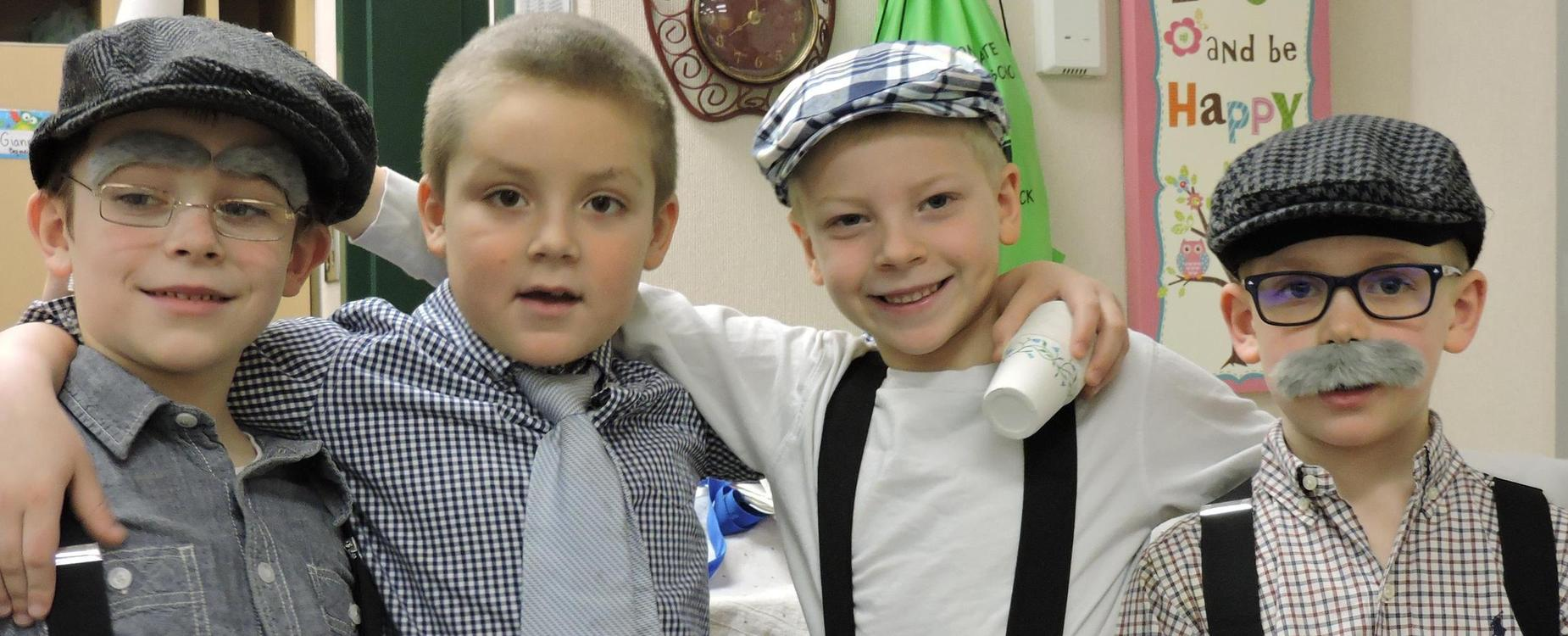 Stonegate students on the 100th day of school.