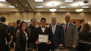 NFF Banquet - Seth Yu, Jack Roberts, Trey Henry - with Parents Steve & Rose Yu.jpg