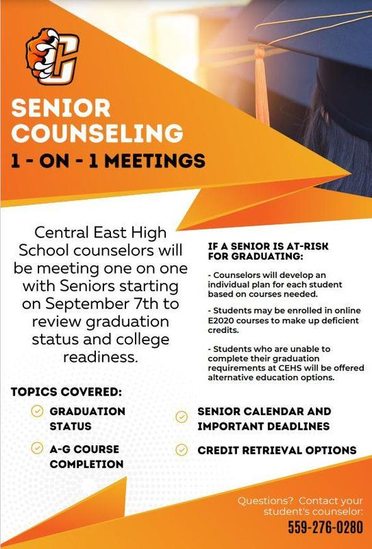 Senior Counseling Meeting 1 on 1 Flyer