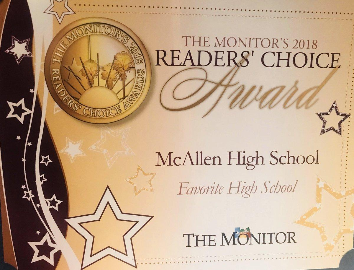 The Monitor's 2018 Readers' Choice, BEST HIGH SCHOOL Image