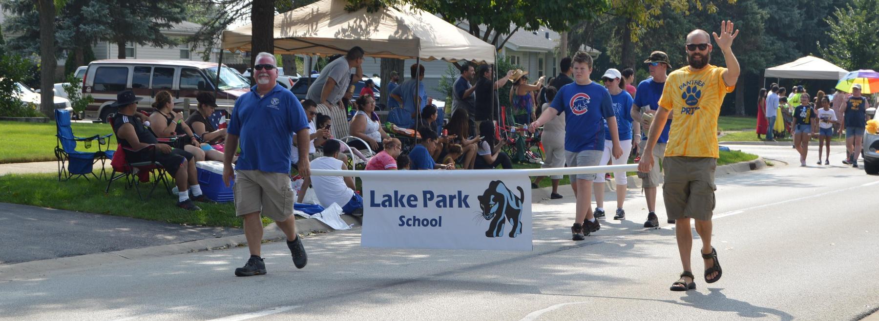 Lake Park in parade