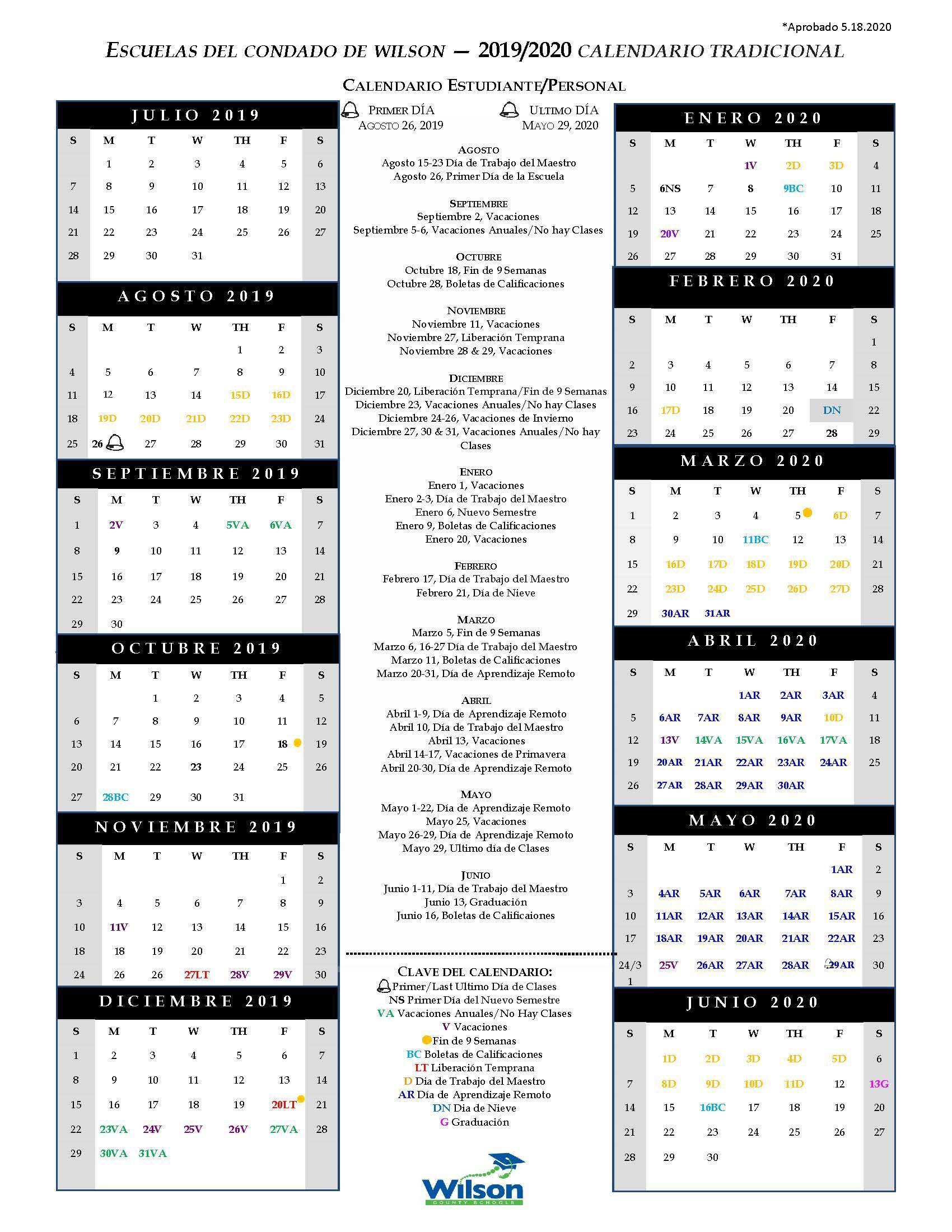 Wcs Calendar 2022.Wilson County Schools