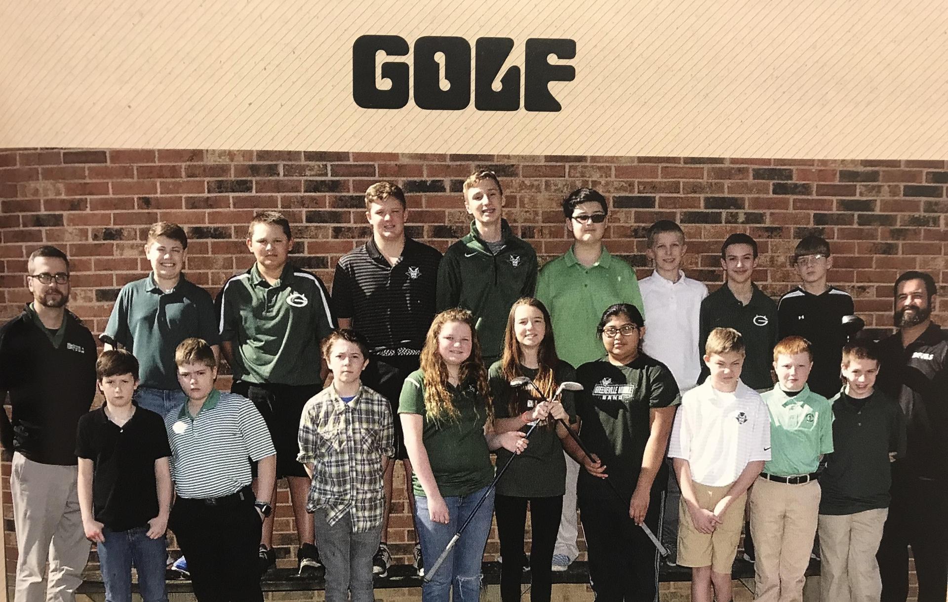 2018-2019 GMS Golf Team