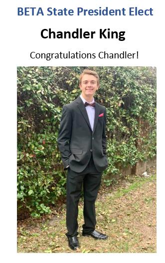 BETA State President Elect Chandler King
