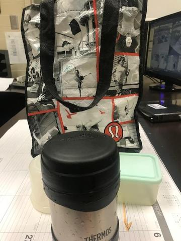 Found Lunch bag with Thermos in Students Center 4/12/19