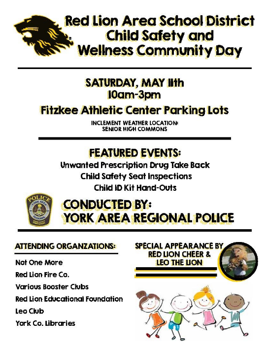 Child Safety and Wellness Community Day - May 11, 2019