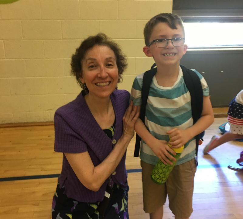 Webmaster Mrs. Janis with former student in file photo