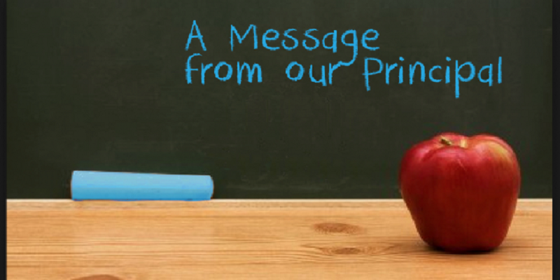 A Message From Our Principal Featured Photo
