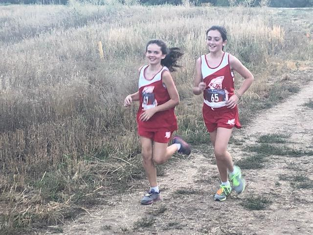 middle school girls running cross country
