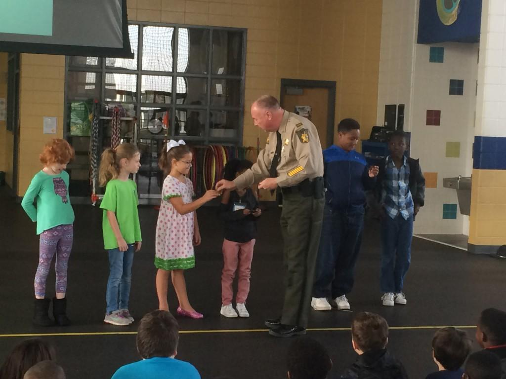 3rd graders and bike safety