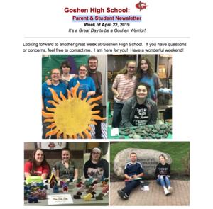 Goshen High School Parent & Student Newsletter!
