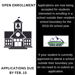 Open enrollment applications due Feb. 15